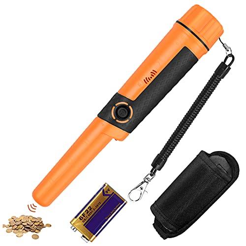 GARLLEN Pinpoint detector de metales Pinpointer para adultos, detector de metales de mano IP68 resistente al agua hasta 20 m bajo el agua, buscador de tesoros con funda para cinturón, batería de 9 V
