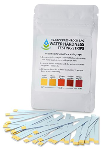 Bulk Water Hardness Test Strips - 15 Second Results Reading from 0ppm to 500ppm