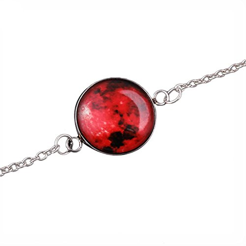 Livecity Armband, leuchtender Mond, Fantasie, Universum, leuchtet im Dunkeln, Glas-Cabochon, Schmuck