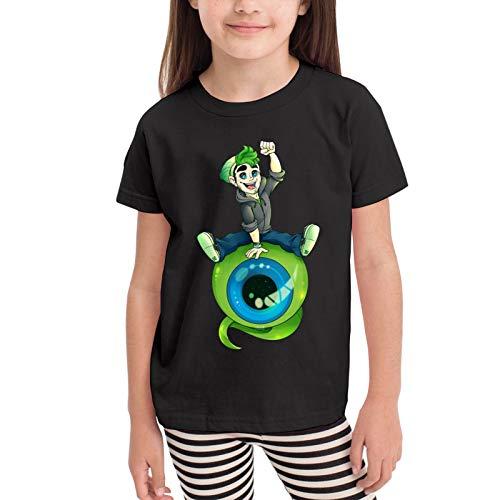 Top of The Morning Jacksepticeye Camisetas gráficas para niñas Adolescentes, niños y niñas, Camiseta de Manga Corta, Camisetas de algodón, Camisetas para niños, Tops 2-6t