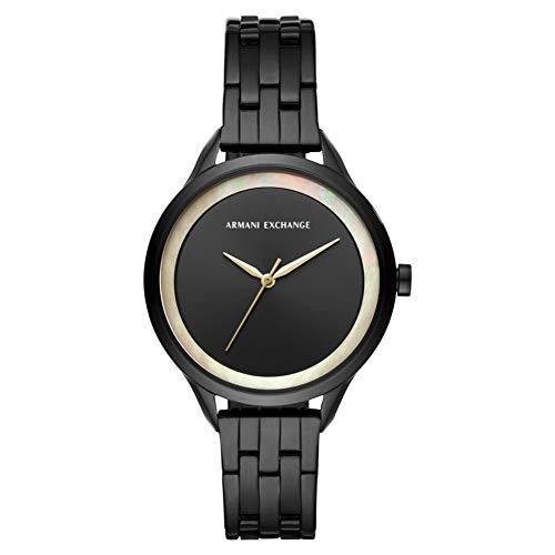 Armani Exchange Damen Analog Quarz Uhr mit Edelstahl Armband AX5610