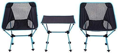 N / A Mesa de Picnic al Aire Libre portátil Plegable de Aluminio Silla sillas Ajustables y 2 Juegos con Bolsa de Transporte, el Cero Resistente al Desgaste para la Comida campestre Que acampa P.