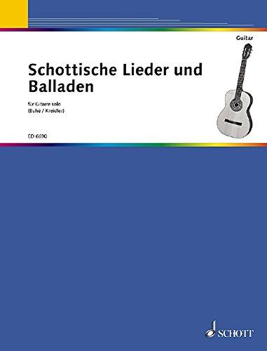 Schottische Lieder + Balladen für Gitarre solo