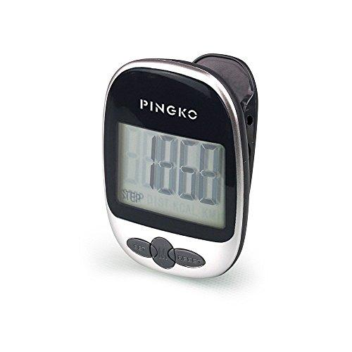 PINGKO Podómetro portátil con precisión para Correr en Pistas Deportivas, Contador de distancias, Contador Fitness, Contador de calorías.