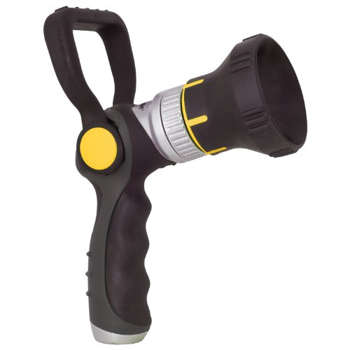 Melnor T402 Heavy-Duty Firemans Nozzle, 100% Metal Core with Rubberized Grip and Head