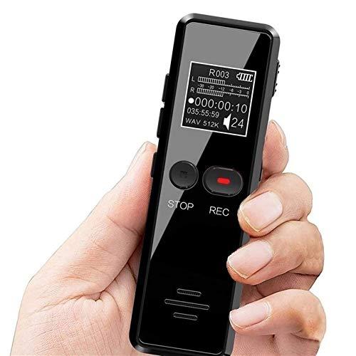 Grabadora De Voz Digital, Dictáfono Profesional Con Reproductor Mp3, Altavoz, Grabadora Activada...