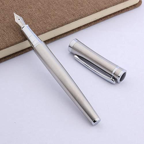 Chunjiao Bolígrafos clásica Nueva Oficina Regalo de Acero Inoxidable Pluma Pluma/Escritura/colección (Color : Ink, Size : Free)