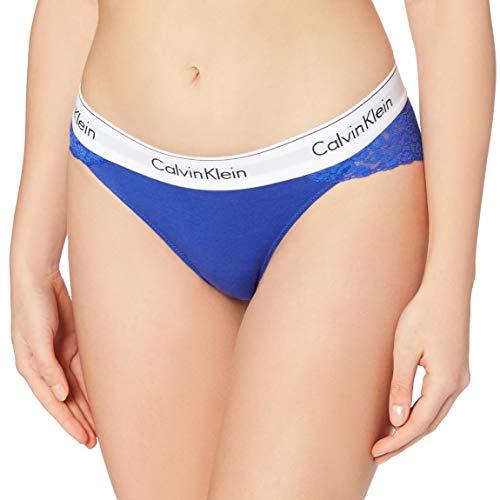 Calvin Klein Bikini Estilo Ropa Interior, Cerúleo Puro, L para Mujer