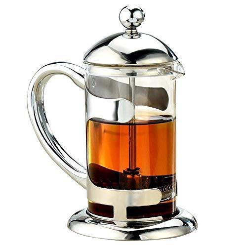 Cafetera French Press Glass Inox Cafetera de filtro a mano fabricante de café francés Pot 300ml-1Litre, 300ML Para el hogar, la cocina, la oficina. (Color : 600ml)