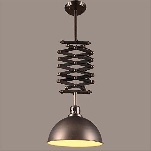 NIHE E27 Vintage en fer forgé Suspension crépuscule élévateur télescopique bar salle de travail industrie de l'industrie Chandelier