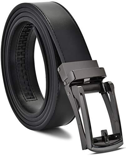 Mens Belt Genuine Leather Ratchet Belt - Dress Belts For Men Slide Belt for Men