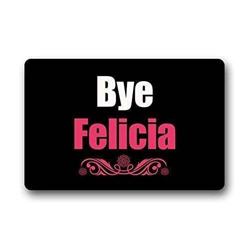 Shirley de la Puerta Alfombrillas easyolife–Funny Doormats Bye Felicia Novelty Doormats Tela 23,6x 15,7cm Lavable a máquina Interior/Exterior/Ducha/baño Felpudo