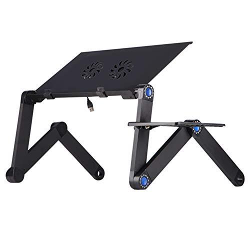 Wopam verstelbare laptop opvouwbare bureau tafel lade bed muis houder met ventilatoren voor thuis