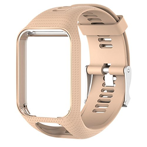 Diuspeed Sili cagel de Repuesto Reloj Banda, uhrengurt 25cm de Largo para Tomtom 2/3Serie GPS de Reloj