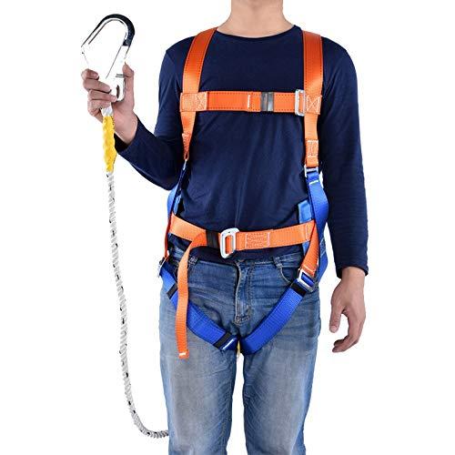 Kit di protezione anticaduta, Imbracature di sicurezza integrale Altezza caduta Protezione imbracatura Lavoro aereo Protezione anticaduta Cintura di sicurezza imbracatura regolabile (Orange)