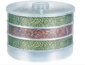 yupzob Organic Plastic Box Hygienic Sprout Maker with 4 Container Home Making Fresh Sprouts Beans for Living Healthy Life