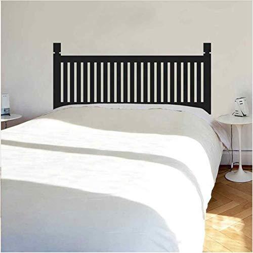 Tête De Lit Traditionnelle en Bois Style Bedpost Vinyle Wall Sticker pour Twin Full Queen King Bed Decor Dortoir Chambre Maison Decortion