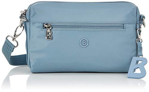 Bogner Damen Verbier Pukie Shoulderbag Shz Schultertasche, Blau (lightblue), 4x15x22 cm