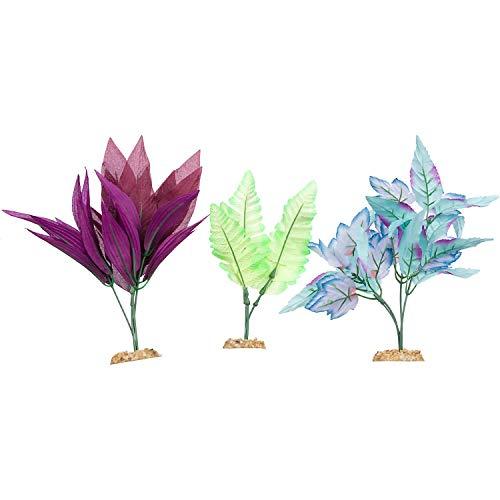 Imagitarium Midground Plant Multi-Pack Silk Aquarium Plants, Medium/Large, Multi-Color