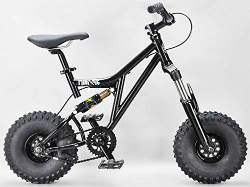 Rocker BMX Mini Rig Downhill Bike, Schwarz, verschiedene Griffe und Rollen, MINIRIGBLACK, Schwarz , 40,6 cm