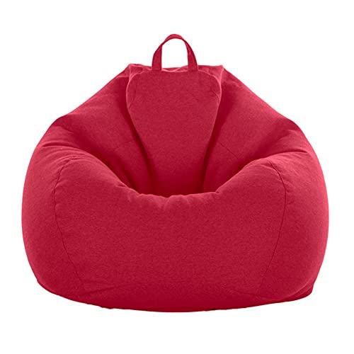 Greenf - Puf gigante de pera para adultos y niños, sin relleno, puf de salón, gran sillón de salón para interior y exterior (80 x 90 cm, vino rojo)