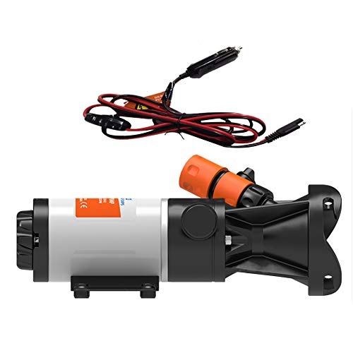 Fleurapance Quick Release Portable DC 12V RV Yacht Sewer Waste Water Sewage Pump Macerator Easily Water Cleaned