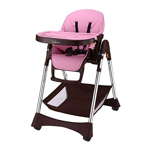 Chaise à manger bébé enfants à manger chaise Chaise bébé en cuir Fonction Portable Table à manger plianteA