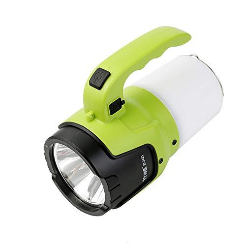 NLYWB campinglantaarn, oplaadbaar, USB, powerbank 6000 mAh, superheldere zaklamp 1000 lm, IPX4 dimbaar licht voor buiten, led-reflector