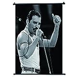 Freddie Mercury Tanktop Filmstar Scrolls Poster,