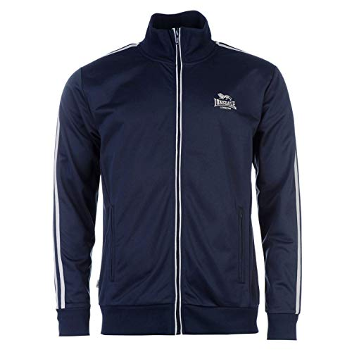 Lonsdale Herren Trainingsjacke Jacke Sportjacke Sport Freizeit Reissverschluss Navy/Grey Small