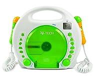 X4 TECH Kinder CD-Player Bobby Joey MP3 mit Akku und Netzteil