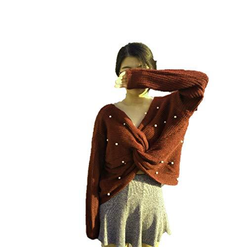 Otoño E Invierno Suéter para Mujer Poliéster Grueso Suave Y Cómodo Chaqueta De Trabajo Diario Al Aire Libre De Manga Larga para Mujer