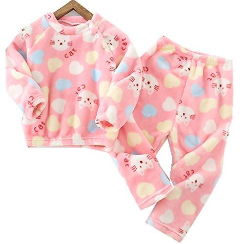 Conjuntos de Pijamas de Franela para niños Ropa de Dormir Estampado Bebé Niñas Niños Traje de Dormir