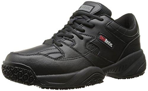 Skidbuster 5050 Men's Leather Comfort Slip Resistant Athletic Shoe,Black,10.5 M US