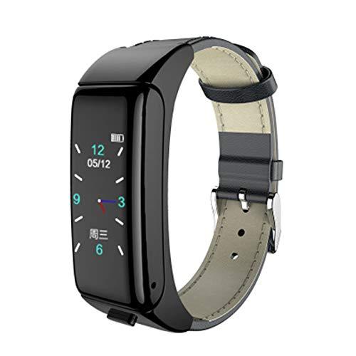 Ake B6 Smart Watch con el Monitor de frecuencia cardíaca Auricular Bluetooth, Adecuado para la bracela de Xiaomi 4 Reloj Deportivo con Auriculares de rastreador de Fitness,B
