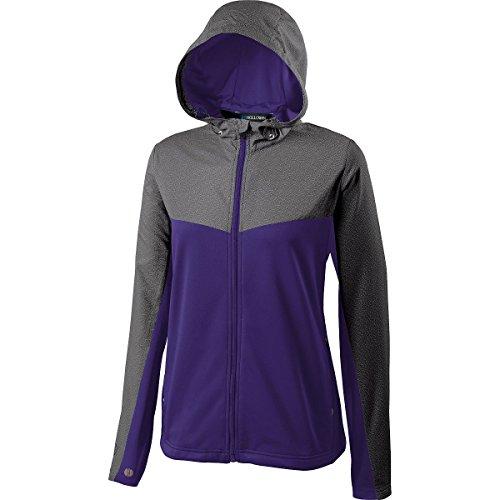 Holloway Women's Crossover Jacket, Gray|Purple, xx-Large