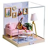 XZJJZ DIY Miniatur-Puppenhaus aus Holz Möbel-Set, handgemachte Mini moderner, kreatives Haus Spielzeug for Mädchen Liebhaber-Geschenk