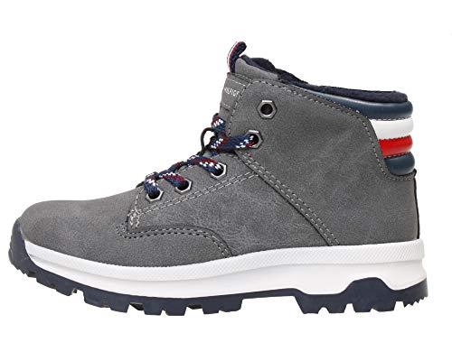 Tommy Hilfiger Kinder Schuhe für Jungs mit Reißverschluss in grau, Farbe:Grau, Größe:EUR 29