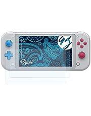 Bruni Nintendo Switch Lite folyo ile uyumlu koruyucu folyo, şeffaf ekran koruyucu folyo (2X)