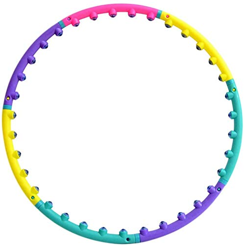 Haojie Hula-Hoop-Magnetic für Erwachsene, Frauen beginnen Training einstellbar billig gewichtete Verlustmassage Hoola-Reifen