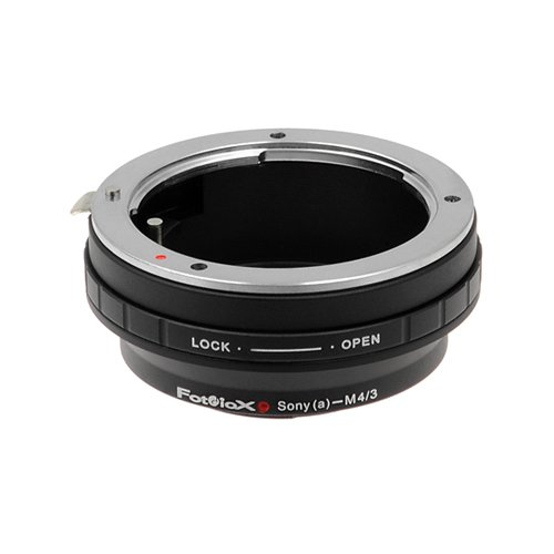 Fotodiox Lens Mount Adapter, Sony Alpha Lens to Micro Four Thirds System Camera such as Panasonic Lumix, Olympus Pen & BMPCC
