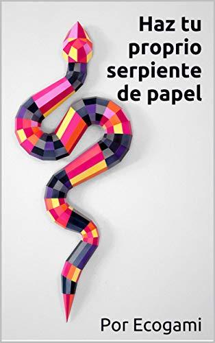 Haz tu proprio serpiente de papel: Decoración de pared | Escultura 3D | Plantilla papercraft (Ecogami / Escultura de papel nº 101)