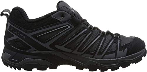 Salomon X Ultra 3 Prime GTX, Zapatillas de Senderismo para Hombre, Gris/Negro (Magnet/Black/Quiet Shade), 42 EU