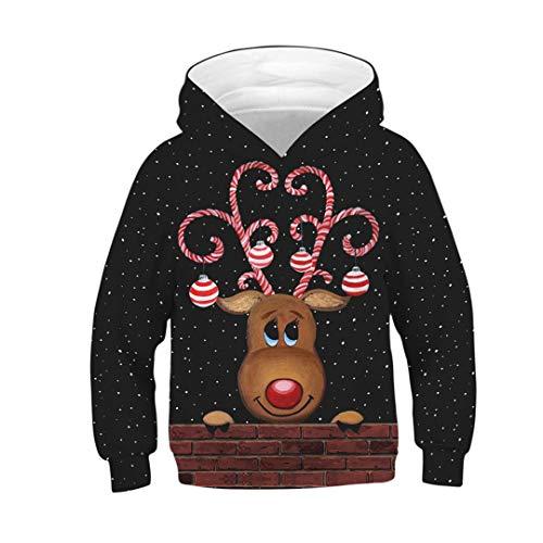 Bambini Cute Albero di Natale degli Animali Gatto Cane Cappello Sloth Galaxy Felpa con Cappuccio Ragazzi Ragazze con Cappuccio Picture Show Tz-180 11T