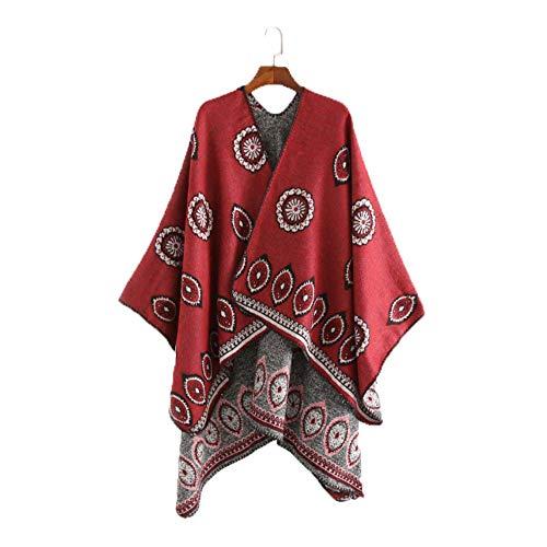 MHO sjaal jas vrouwen oversized deken Poncho Cape sjaal vest sjaal wrap trui jas voor de winter