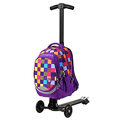EXCLVEA Travel Suitcase Trolley Adult Electric Luggage Charging Luggage Portable Trolley Case Electric Scooter Suitable for Teenagers (Color : Purple, Size : 56×36×25CM)