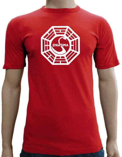 Touchlines Herren Lost Dharma Logo T-Shirt SF121 red S