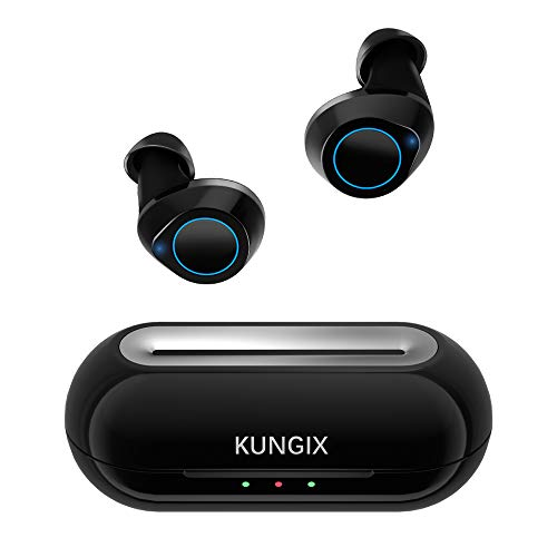 KUNGIX Auricolari Bluetooth 5.0, Cuffie Bluetooth Sport Wireless Mini Cuffie Wireless Senza Fili, in-Ear Auricolare Stereo IPX5 Microfono Incorporato per iPhone Samsung Huawei