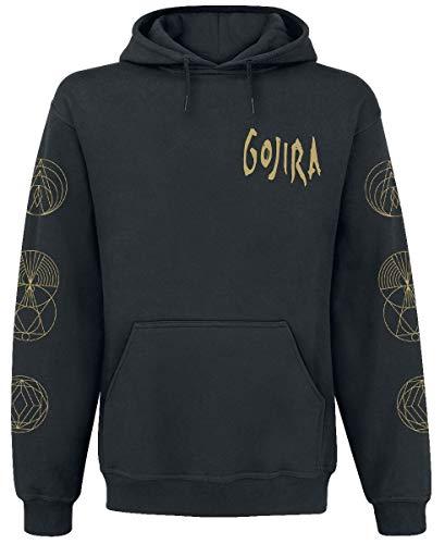 Gojira Symbols Uomo Felpa con Cappuccio Nero M 80% Cotone, 20% Poliestere Regular