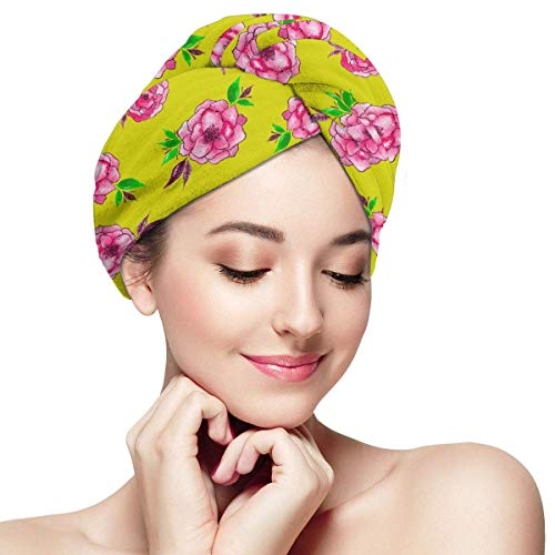 GYTHJ Serviette de Cheveux en Microfibre Wraps pour Femmes Tête de Tigre Royal Belle Animal Séchage Rapide Anti-frisottis Tête Turban Super Absorbant Doux